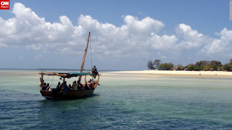 "Tour guide <a href=""http://ireport.cnn.com/docs/DOC-1081553"">Scott Isom</a> shot this photo on Menai Bay, on the southern end of Zanzibar's Unguja Island, during a day-long Indian Ocean safari that included snorkeling, swimming in a mangrove lagoon, spotting dolphins and a seafood barbecue lunch."