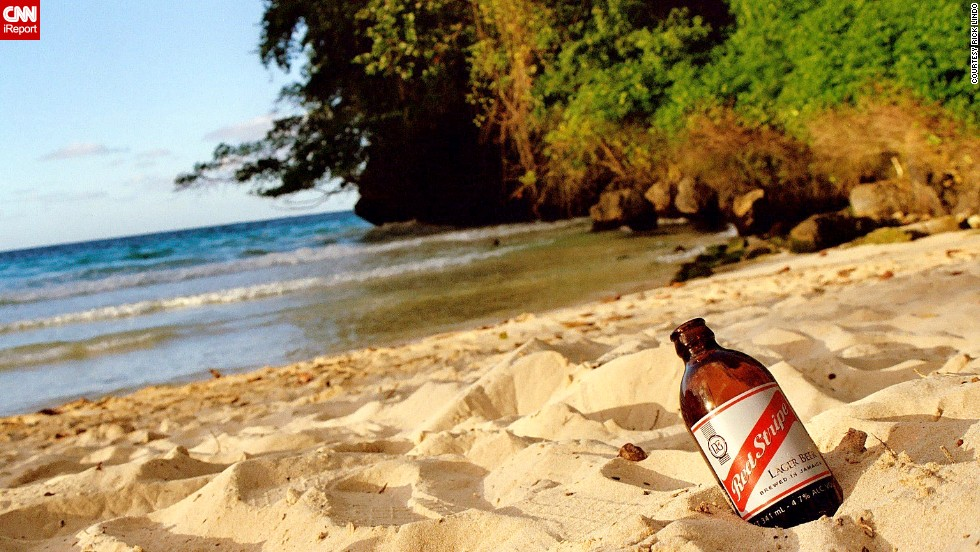 "Have a beverage with your beach. <a href=""http://ireport.cnn.com/docs/DOC-1082773"">Rick Lindo</a> grew up in Jamaica and visits often. ""I try to take my family to different parts of the island so they can get the full experience of Jamaica and realize it's not just a tourist destination."""
