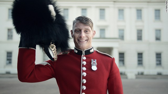 Men in bear-fur hats, steam trains and Indian restaurants feature in VisitBritain ad, but no rain.