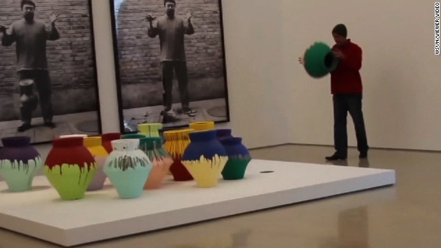 Vandal breaks $1 million vase at museum