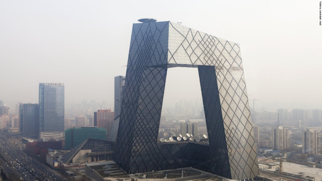 "Architect Rem Koolhaas famously declared that he wanted to ""kill the skyscraper."" As part of his assault, he conceived the <a href=""http://www.oma.eu/news/2012/cctv-completed"" target=""_blank"">Beijing CCTV Tower</a>, an oddly-shaped complex of six interlocking vertical and horizontal structures. The 44-storey building includes a large hole in the center, which explains why locals sometimes refer to it as ""big boxer shorts"". In 2013 the Council on Tall Buildings and Urban Habitat named it the Best Tall Building Worldwide."