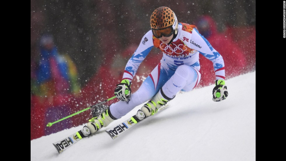 Austria's Anna Fenninger competes in the women's giant slalom on February 18.