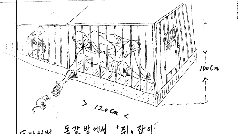 "Text: ""Solitary confinement punishment. Capturing mice from inside the cell."""