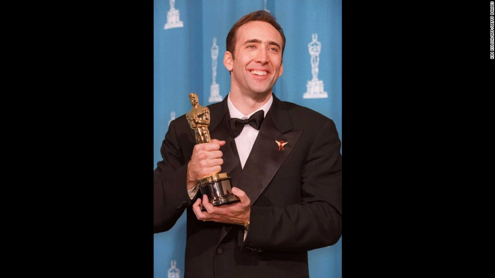 "Nicolas Cage may now be the butt of Internet jokes -- <a href=""http://www.youtube.com/watch?v=U0Og4LaB1Zc"" target=""_blank"">surely you've seen him swing from a ""Wrecking Ball""</a>? -- but he was the man to beat at the 1996 Oscar ceremony. Cage won the best actor prize for ""Leaving Las Vegas,"" his first nomination and first win."