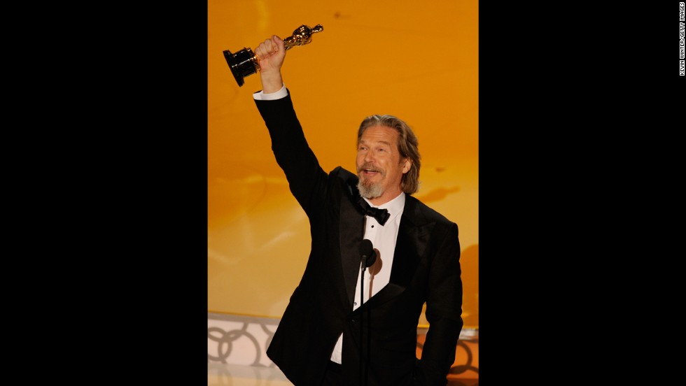 "Jeff Bridges was understandably ecstatic when he won the best actor Oscar for ""Crazy Heart."" Bridges had been nominated four times before, and, with competition from George Clooney in ""Up in the Air"" and Jeremy Renner in ""The Hurt Locker,"" his wasn't an obvious win. So when his name was called at the 2010 ceremony, <a href=""http://www.cnn.com/2010/SHOWBIZ/Movies/03/07/"">Bridges relished the moment in his acceptance speech</a>: ""Thank you, mom and dad, for turning me on to such a groovy profession,"" he said."