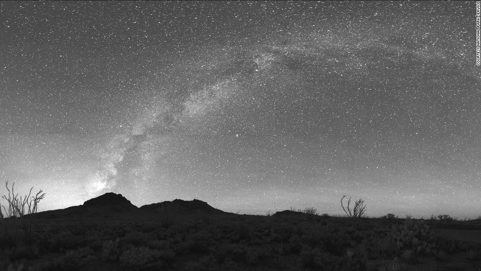 In this picture the swirl of the Milky Way can clearly be seen from Panther Junction, the center of Big Bend National Park in Texas. Among the stars, you can also see the constellations Gemini, Taurus and Orion. It's the only dark sky park in the Northern Hemisphere where you can see parts of the Southern Cross.