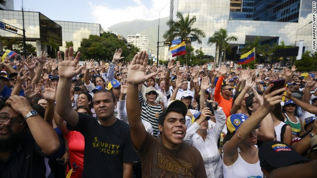 Youth stage protests in Venezuela