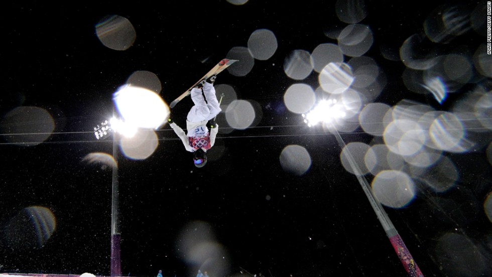 Thomas Krief of France competes in the men's halfpipe on February 18.