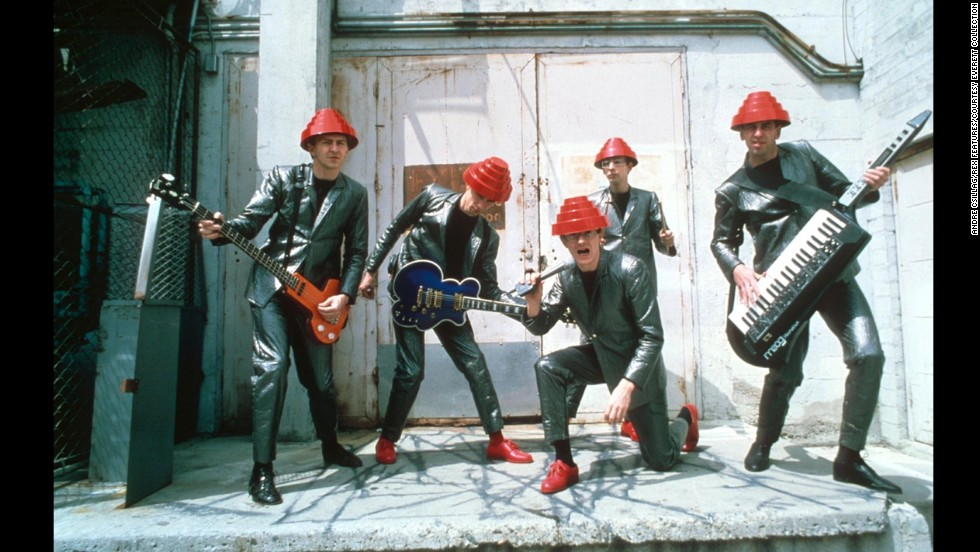 "Devo is seen in London circa 1978. Their debut album ""Q: Are We Not Men? A: We Are Devo!"" was an underground hit."