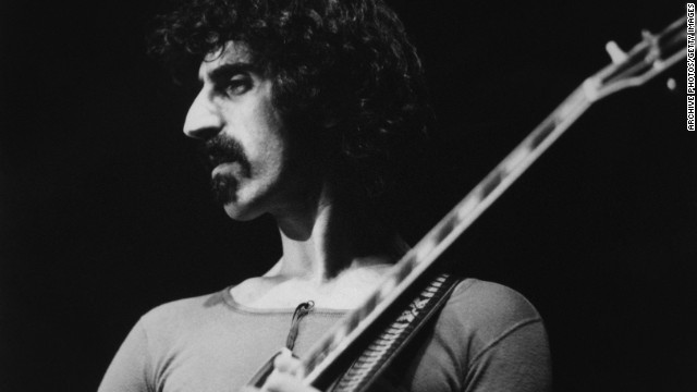 A portrait of musician Frank Zappa on his European tour circa 1970.