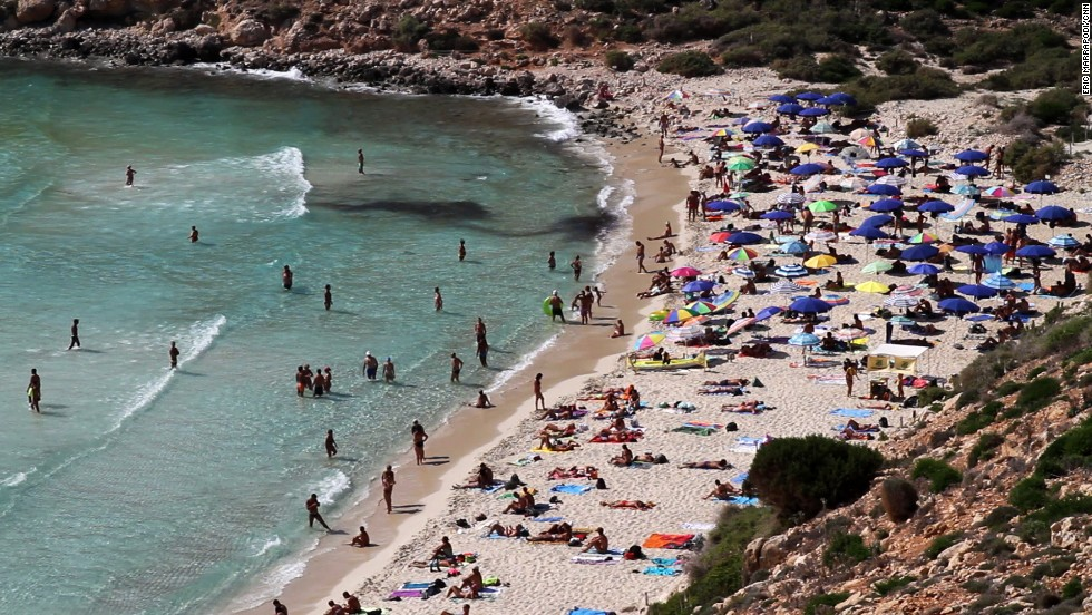 Rabbit Beach on Lampedusa has been voted one of the world's best beaches.