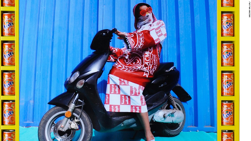 "In 1984 Hajjaj owned a London fashion boutique called RAP, short for Real Artistic People. ""Sometimes the women have their own clothes and I photograph them in things they are wearing,"" he says. ""Sometimes I add on stuff."""