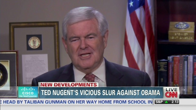 exp TSR Newt Gingrich on Ted Nugent controversial comment_00002001.jpg