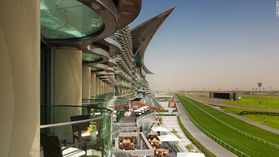 The Meydan is not just a racecourse but also the world's first five-star trackside hotel, with 284 rooms and suites, from where clients can enjoy unrivaled views on the balcony.