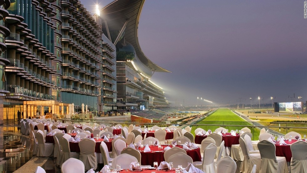 Fittingly for a course that stages such a prestigious event, and cost a reported $1 billion to build, trackside dining at the Meydan can take place in a variety of spectacular settings.