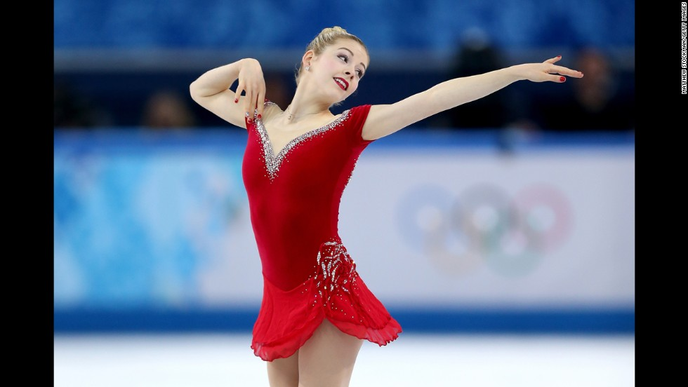 American figure skater Gracie Gold performs her short program in the women's individual event February 19.