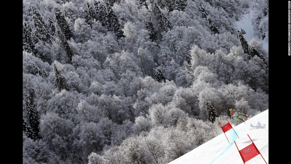 Yuri Danilochkin of Belarus competes during the men's giant slalom on February 19.