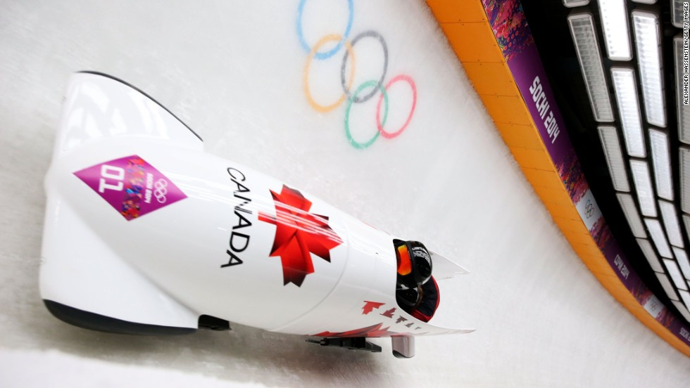 Canada claimed gold in the women's bobsleigh when Kaillie Humphries and Heather Moyse triumphed ahead of Americans Elana Myers and Lauryn Williams -- the latter of whom was seeking to add to her Summer Games sprint relay title.