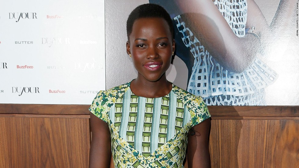 Actress Lupita Nyong'o attends an event celebrating her cover of Dujour Magazine on February 19 in New York City.