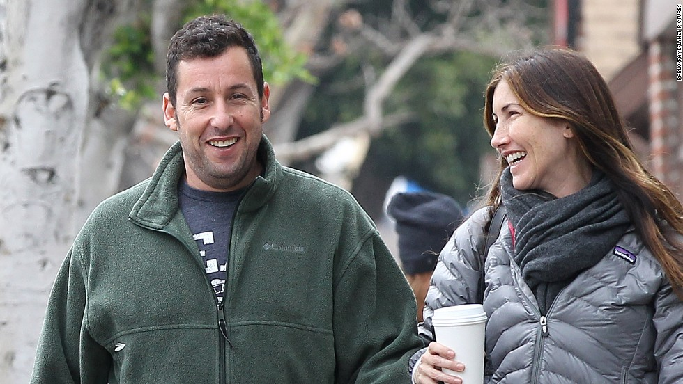 Adam Sandler is spotted out and about with his wife Jackie in Brentwood, California on February 19.