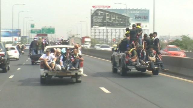 On the scene of protests in Bangkok