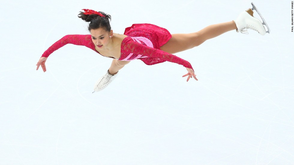 Anne Line Gjersem of Norway performs her free skate in the women's figure skating competition.
