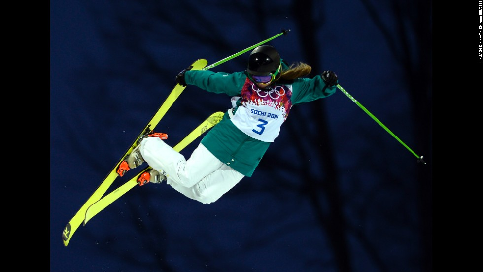 Australia's Amy Sheehan competes in the women's halfpipe.
