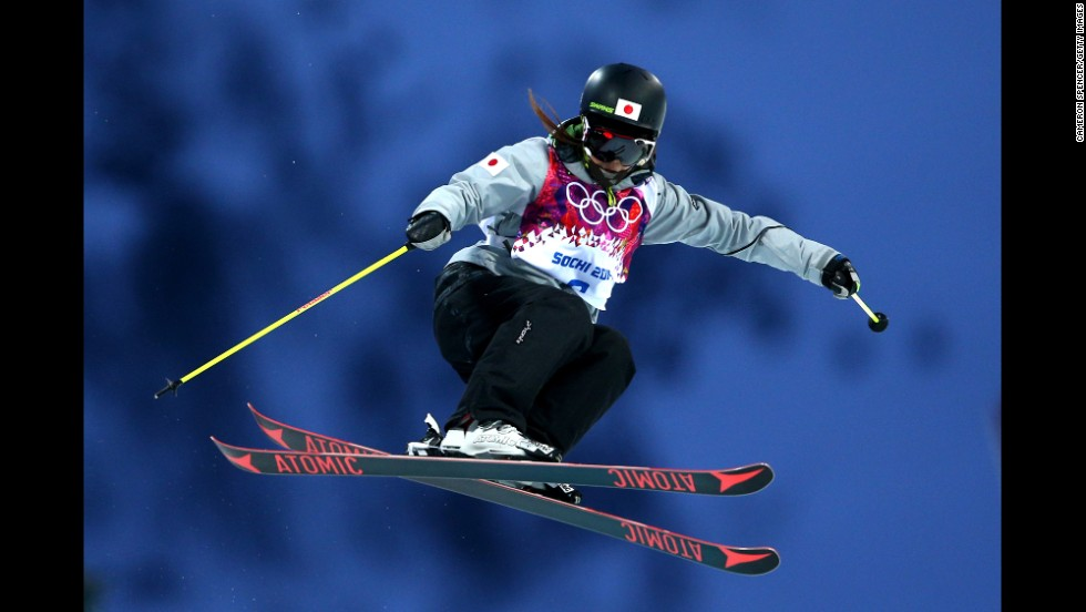 Ayana Onozuka of Japan competes in the women's halfpipe.