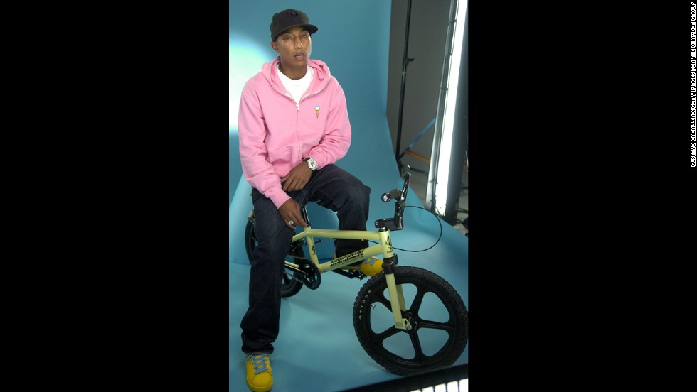 With a nickname like Skateboard P, we know that Pharrell isn't averse to letting some physical activity put the blush in his cheeks.