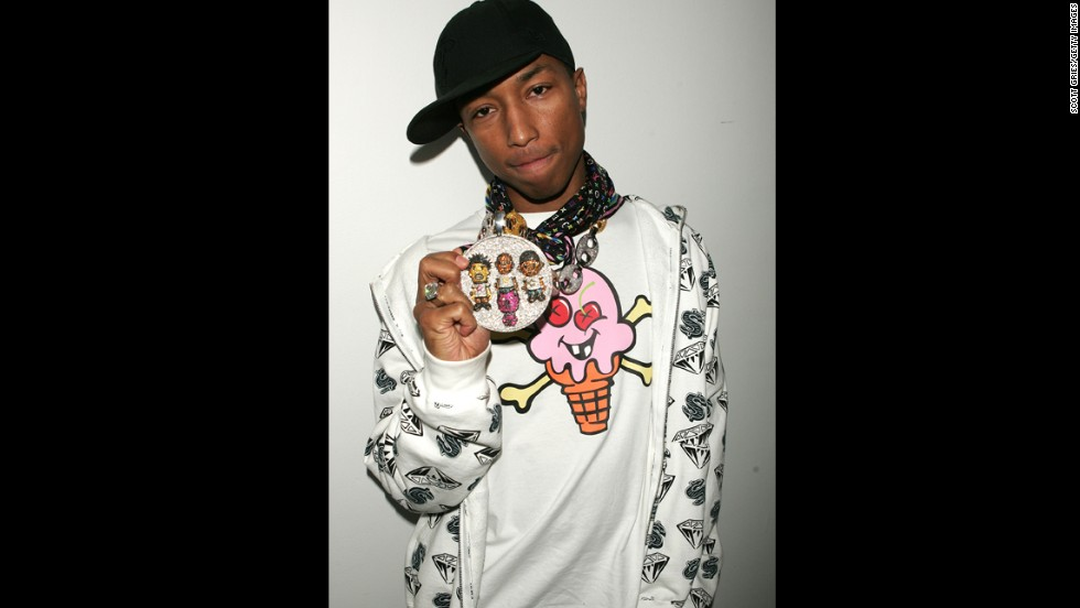 Maybe part of what makes Pharrell look forever young is his youthful approach to fashion, although we can't recommend you try this look at home.