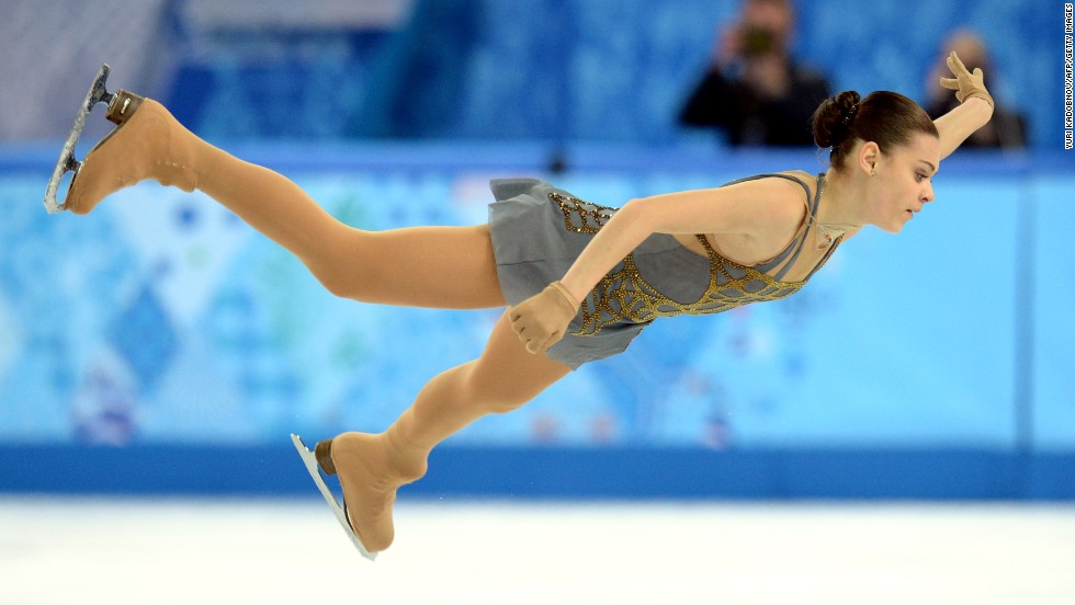 Russian figure skater Adelina Sotnikova performs in the women's individual competition on February 20.