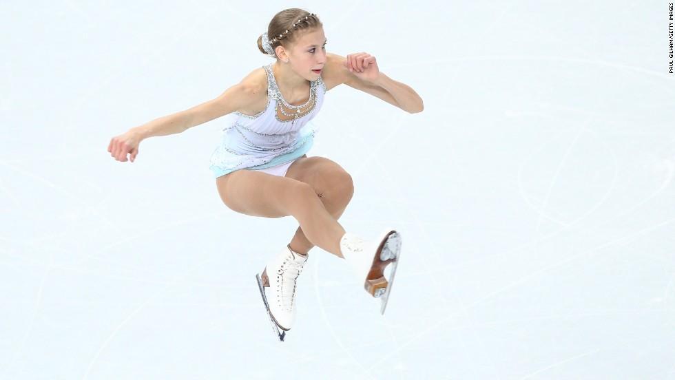 Figure skater Polina Edmonds of the United States competes February 20.