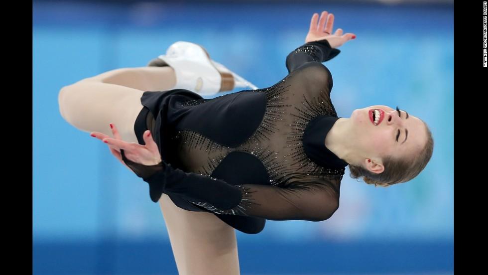 Italian figure skater Carolina Kostner competes on February 20.