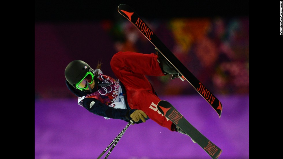 Angeli Vanlaanen of the United States competes in the women's halfpipe.