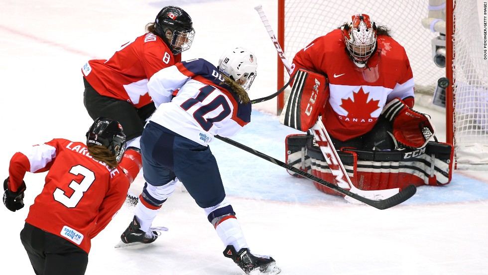 Both ice hockey tournaments in Sochi provided plenty of drama. Canada won the eight-nation women's event with a 3-2 overtime victory over the United States.