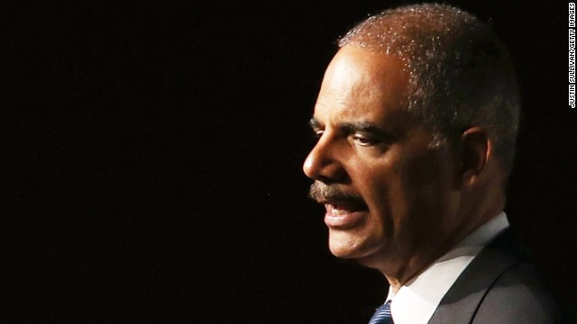 Attorney General Eric Holder heading to Ferguson, Missouri. (Photo by Justin Sullivan/Getty Images)
