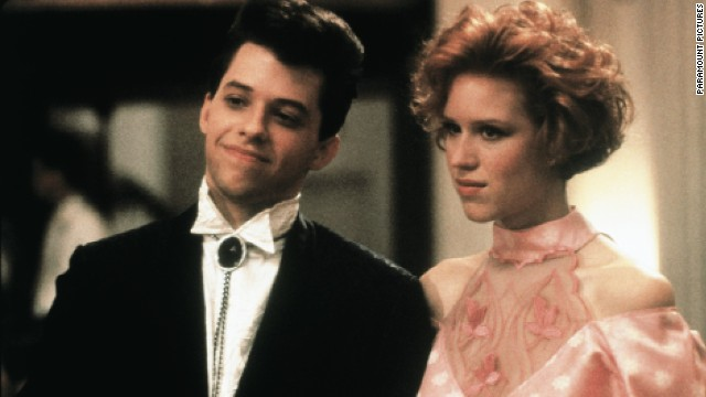 "Jon Cryer and Molly Ringwald star in ""Pretty in Pink."""