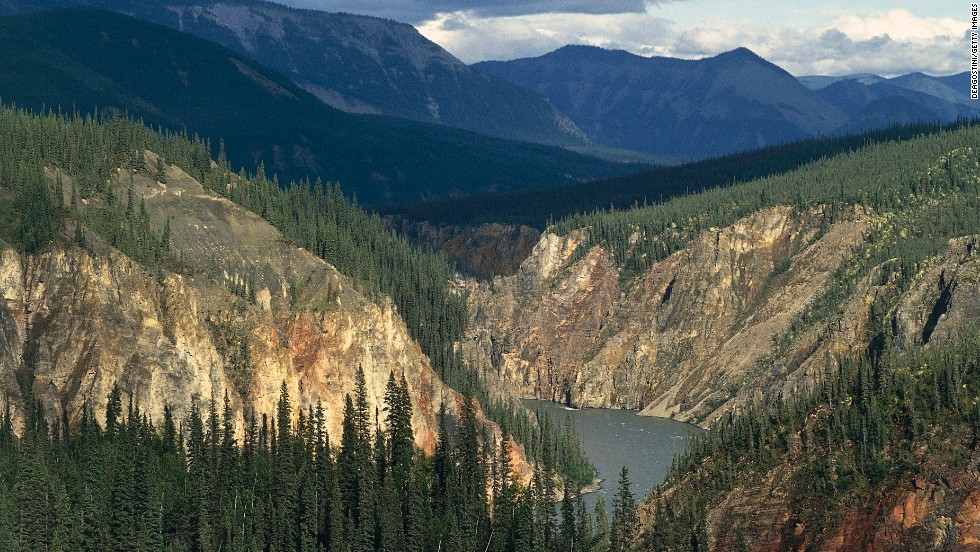 Nahanni National Park in Canada is home to almost every known type of North American river and stream.