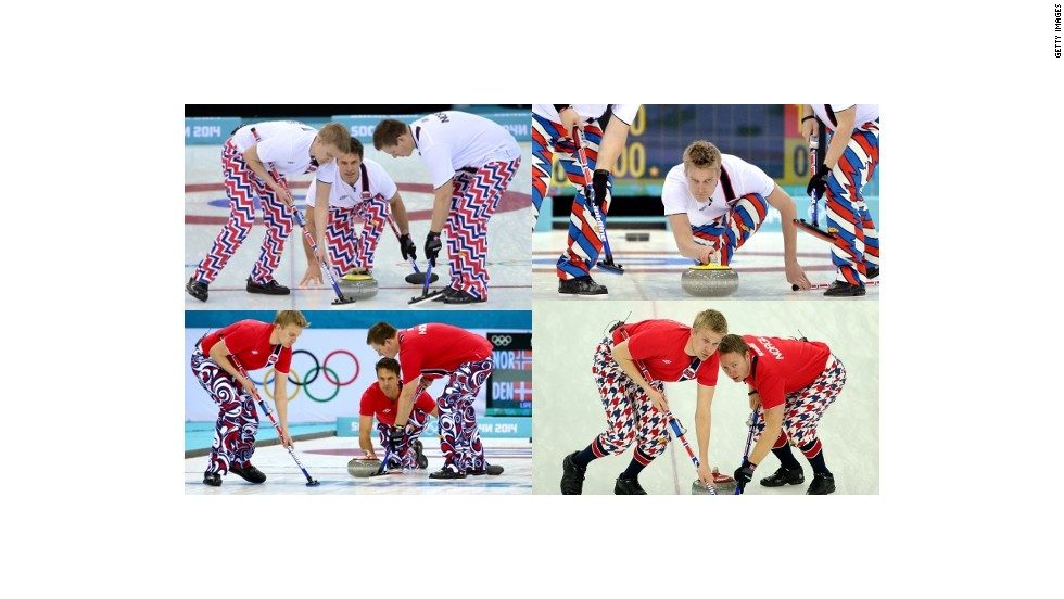After 2010, it was hard to believe anyone could out-do the Norway curling team's pants. Four years later, Norway won the pants competition again.
