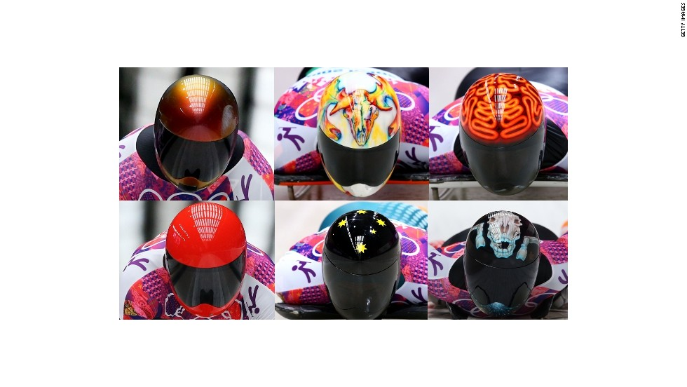 Fairbairn's was just one example of the stylish helmets on show.