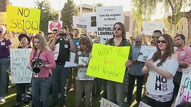 Arizona lawmakers pass anti-gay bill