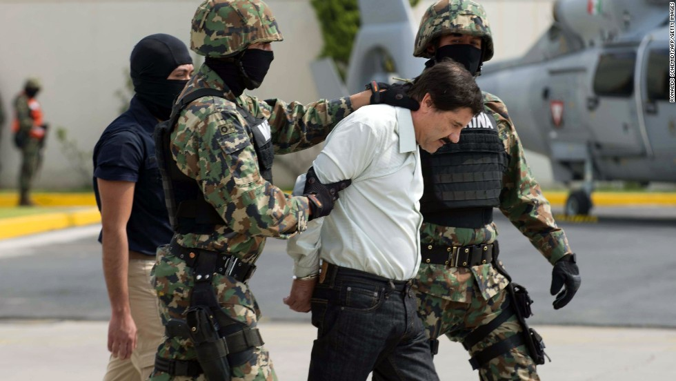 Guzman was arrested early this morning by Mexican marines at a resort in Mazatlan, northern Mexico.