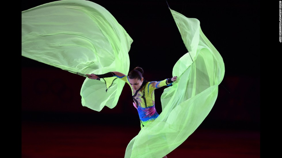 Russia's Adelina Sotnikova performs February 22 at the figure skating exhibition gala.
