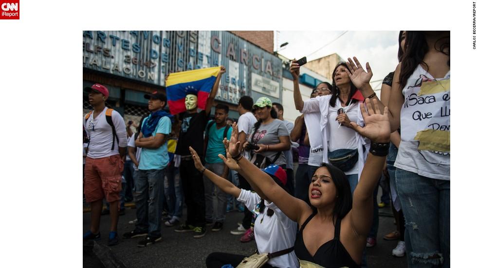 Los estudiantes piden el cese de la represión.