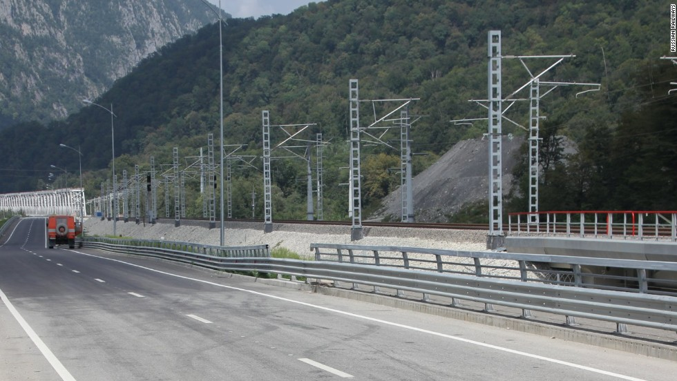 "The so-called ""Most Expensive Road In The World' runs 25 miles from the coastal Winter Games site in Sochi to the alpine venues nearly 2000 feet above sea level in Krasnaya Polyana, Russia. The Wall Street Journal valued its cost at $9 billion though Oleg Toni, Russian Railways Vice President, would not confirm this figure."