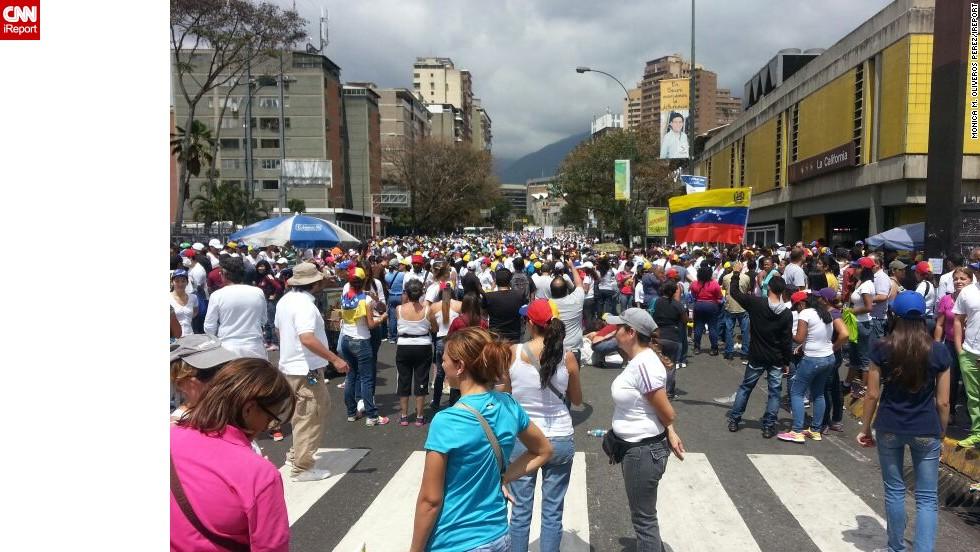 Manifestaciones en Caracas.