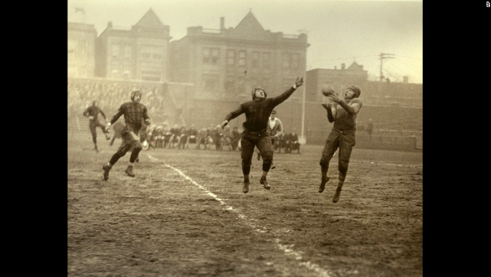 The Chicago Bears football team plays during the 1920s. The Bears, one of the founding franchises of the National Football League, started out as the Decatur Staleys in 1919.