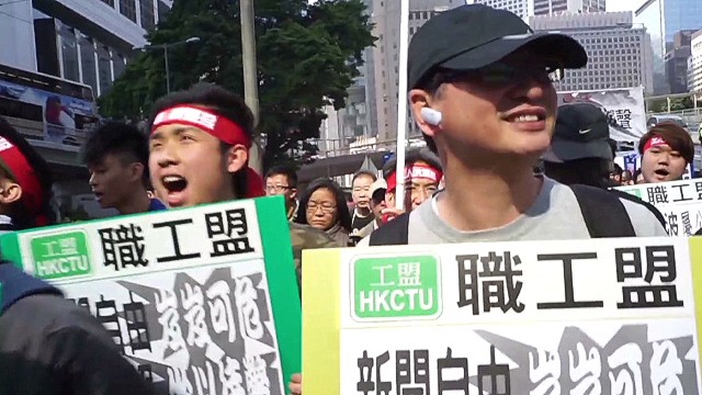 Hong Kong journalists protest censorship