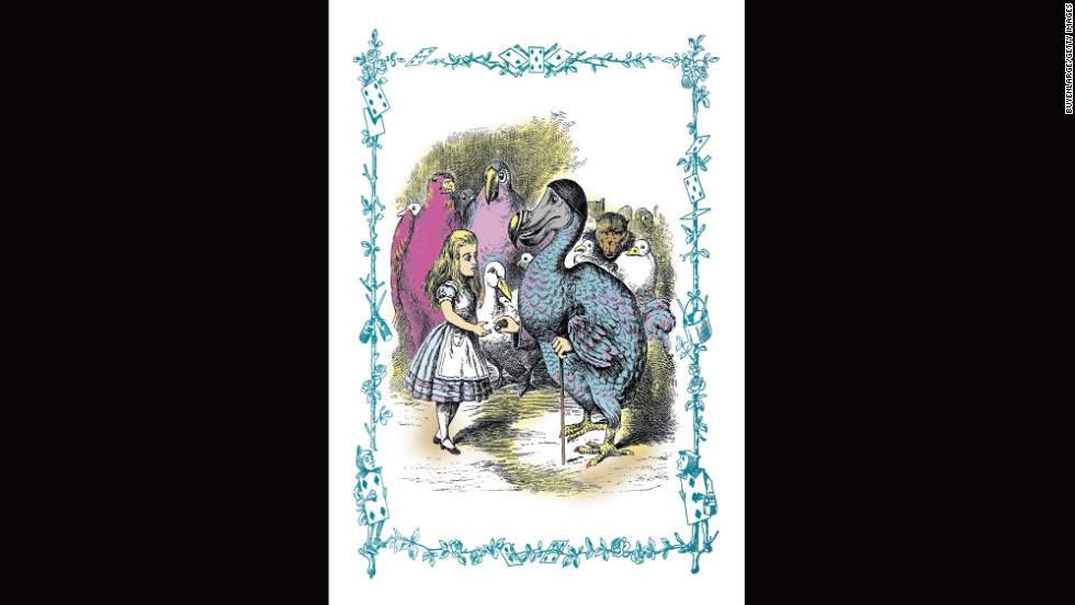 "The dodo gives Alice a thimble in ""Alice in Wonderland."""