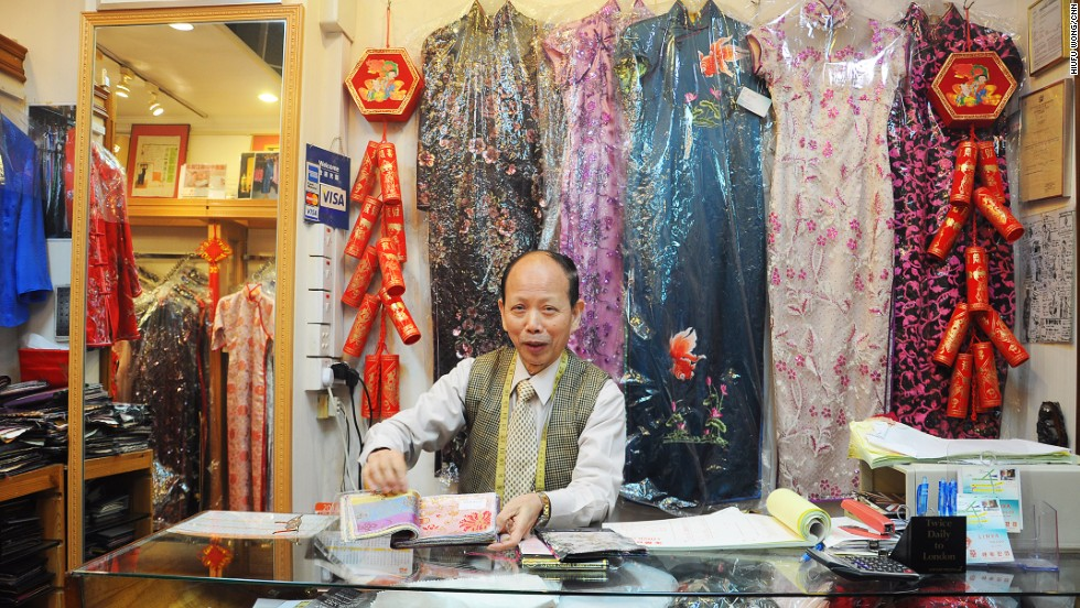 "Founded in 1966 in Hong Kong, Linva Tailor has watched the rise and fall of the cheongsam's popularity. ""Cheongsam becomes trendy every decade or two in a cycle,"" says owner Leung Ching-wah."